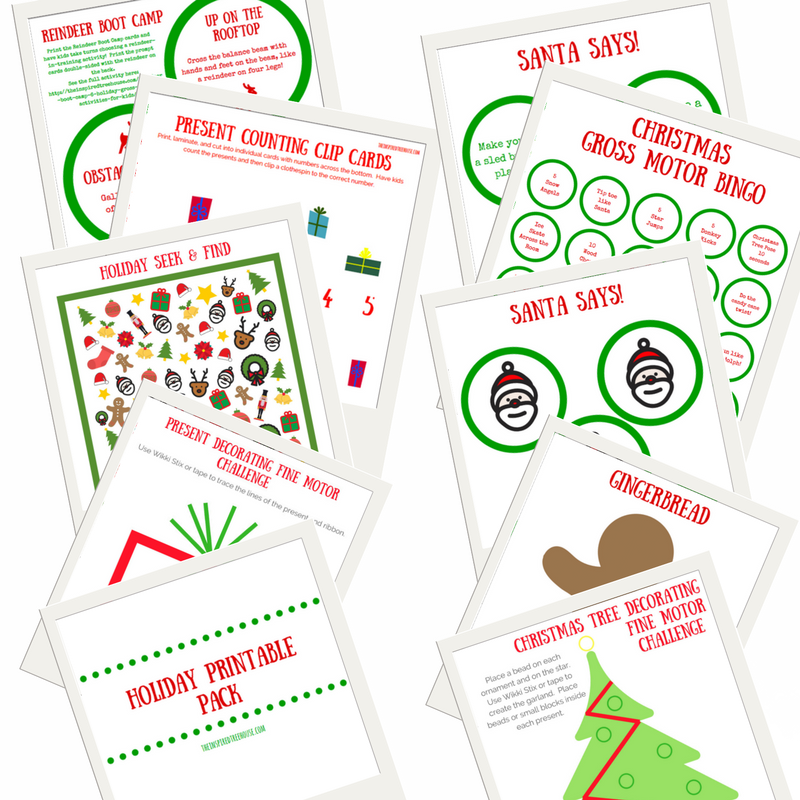 The Inspired Treehouse - These fun printable holiday activities for kids are the perfect way to get kids in the spirit of the season while targeting important developmental skills.