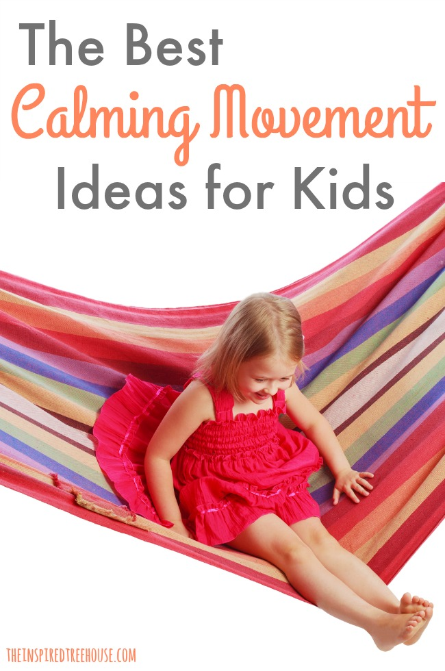 These easy activities all use repetitive, rhythmic movement to provide gentle stimulation to the vestibular system, which can help keep kids calm.
