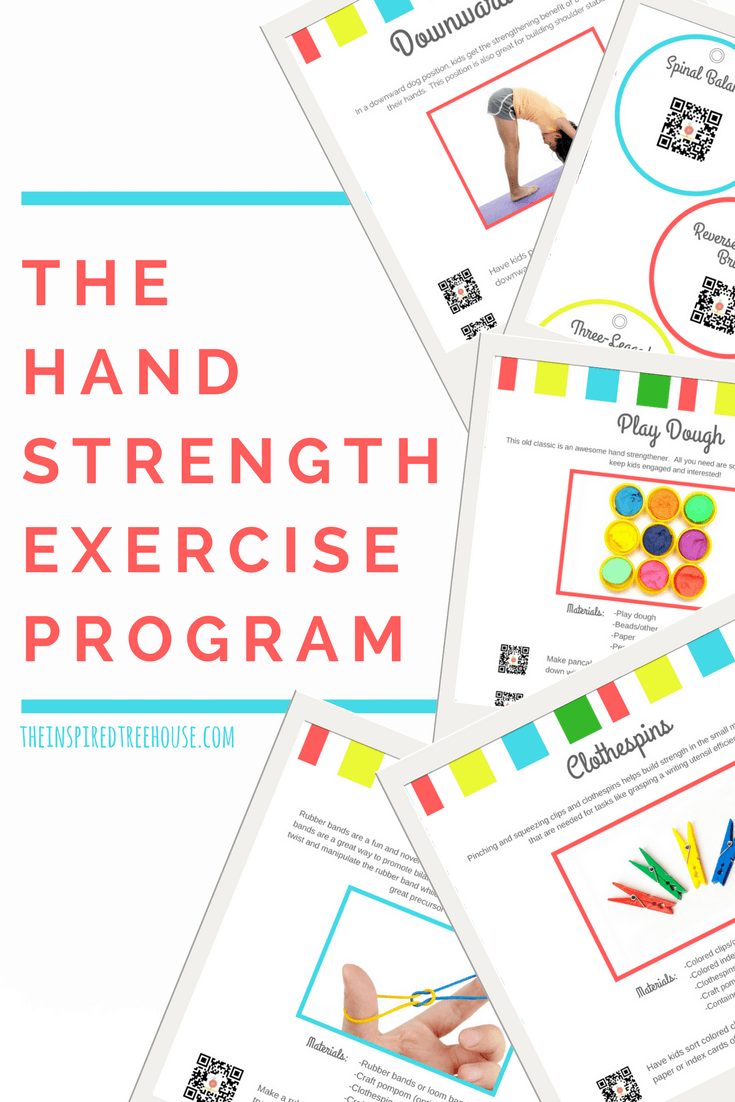 The Inspired Treehouse - This program is full of fun and creative hand exercises and activities to build strength!