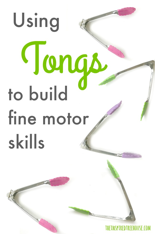 The Inspired Treehouse - Looking for fresh, fun ways to play with kids tongs to build fine motor skills?  We've got you covered!