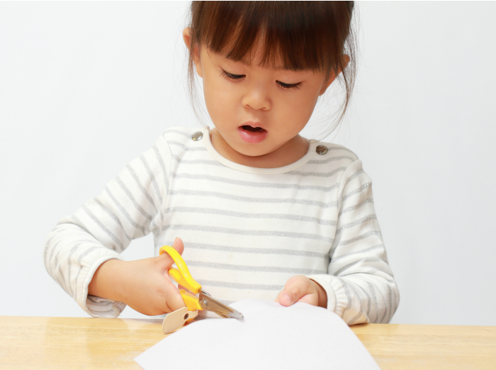 Beginner Cutting Skills for Toddlers and Young Kids