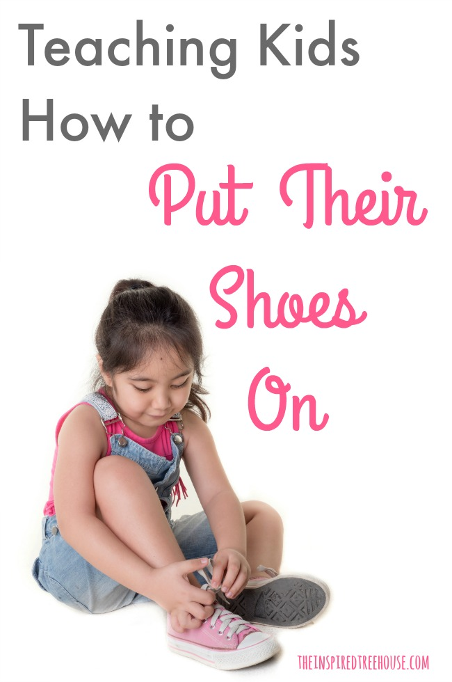 The Inspired Treehouse - Check out this occupational therapist's secret to helping kids learn to put on shoes independently.