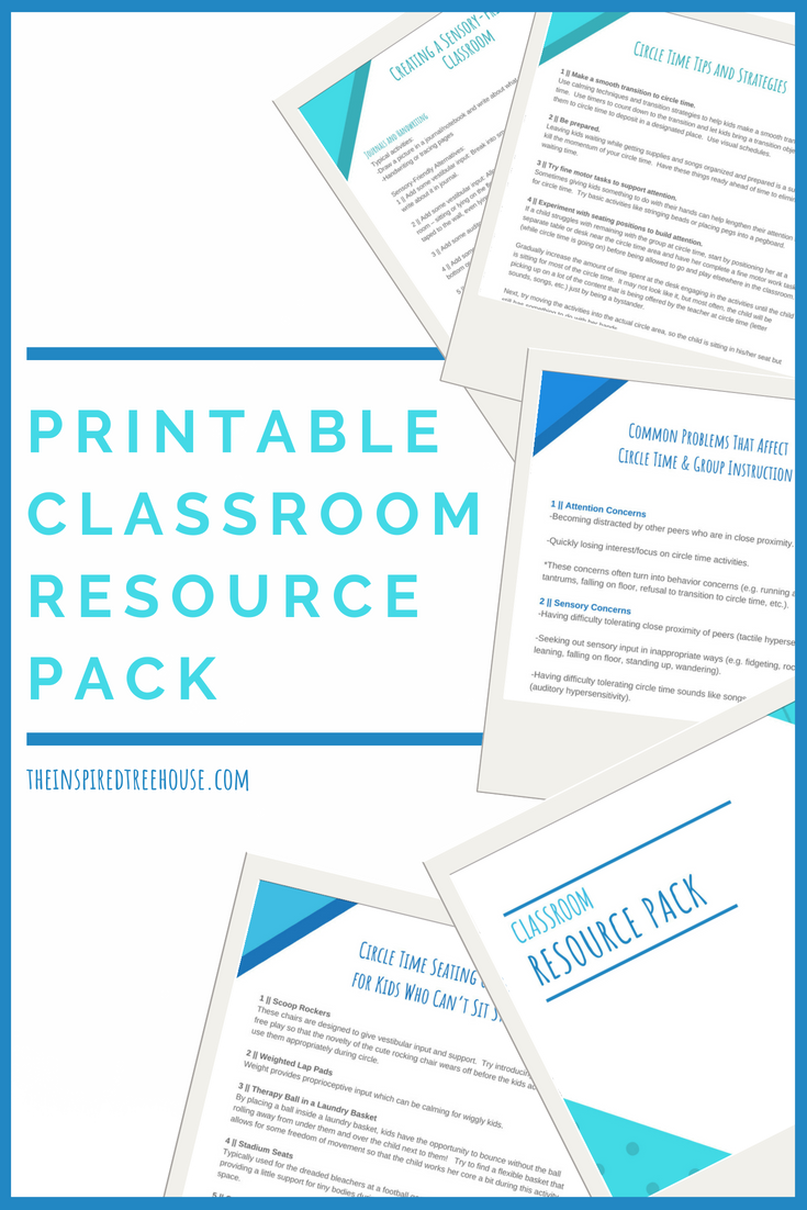 The Inspired Treehouse - In this printable pack of classroom resources, you'll find tips and information to support all kids in the school setting.