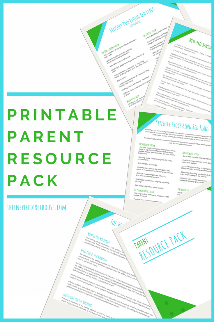 The Inspired Treehouse - In this printable pack of parent resources, you'll find tips and information that will help support all areas of development for kids.