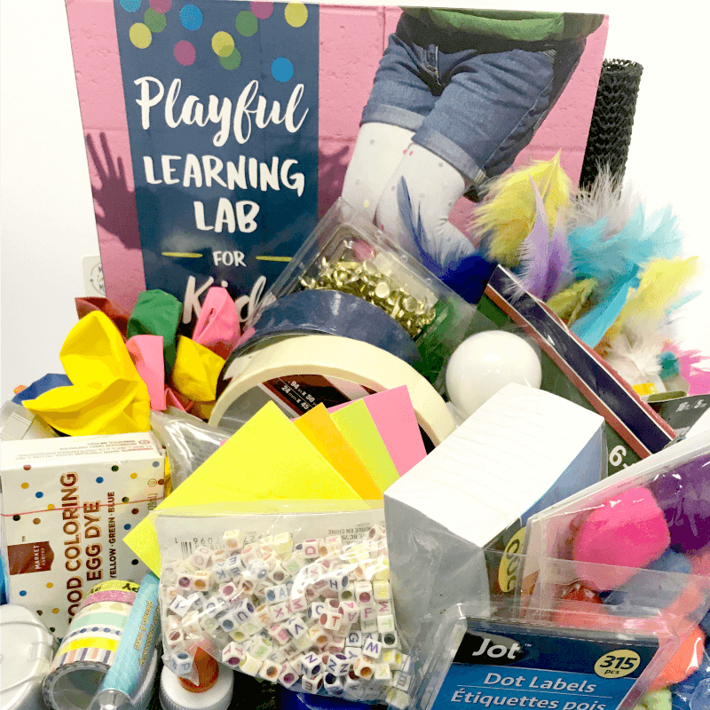 The Inspired Treehouse - Check out how we shopped for and prepped more than 50 hands-on learning activities for less than $50 and packaged it up with Playful Learning Lab for Kids to make the best teacher or therapist gift ever!