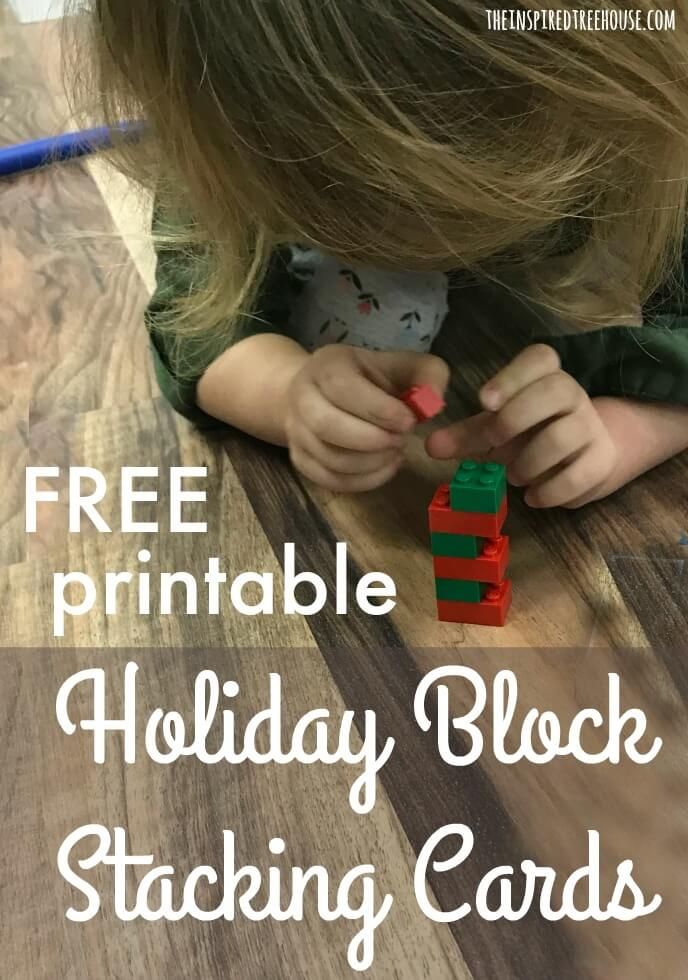 The Inspired Treehouse - Looking for fun holiday games for kids?  We've got you covered with these free printable block pattern cards!