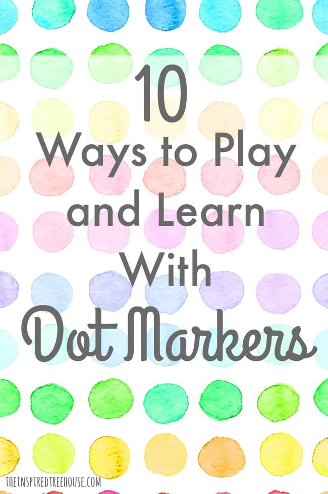 The Inspired Treehouse - Dot markers are one of our all-time favorite therapy supplies!  There are so many fun ways to use them to promote fine motor and visual motor skills!
