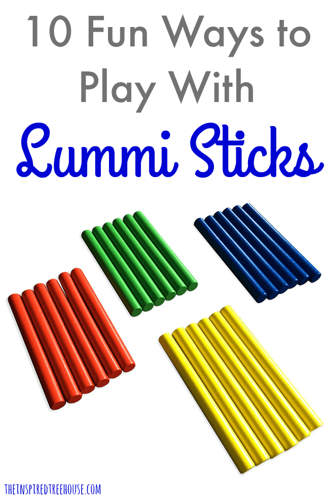 The Inspired Treehouse - Lummi Sticks are a great way to promote all kinds of developmental skills for kids!  Check out our favorite ways to play!