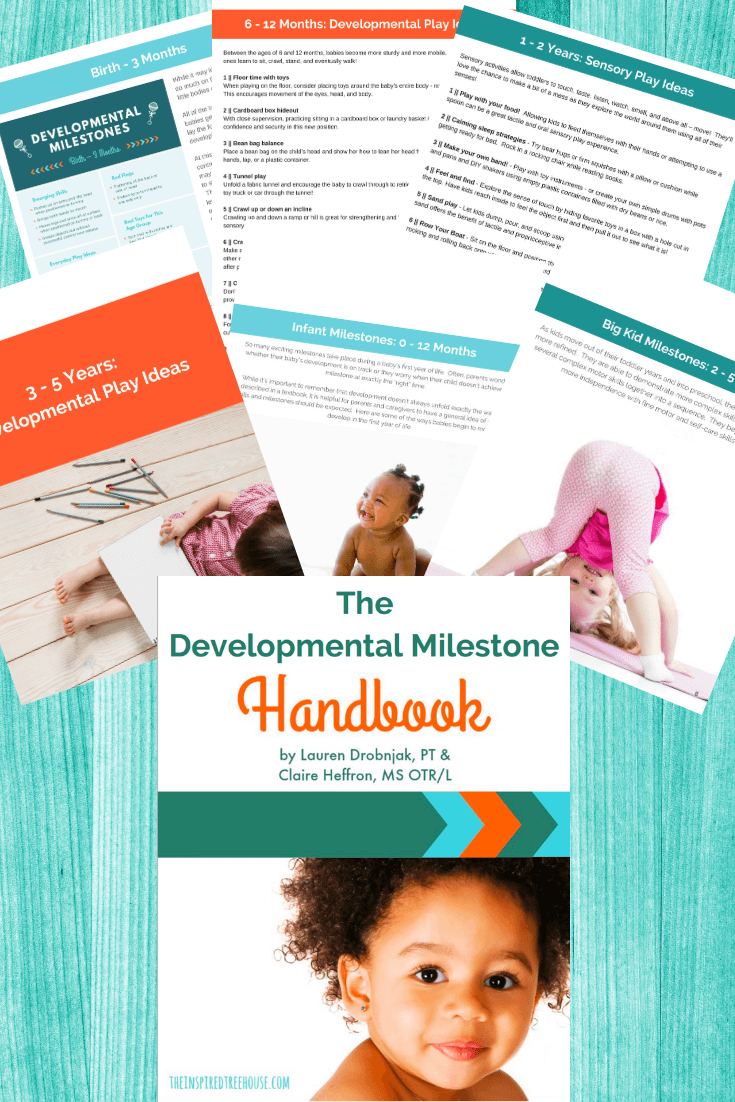 The Inspired Treehouse - The Developmental Milestone Handbook is your go-to resource about preschool, toddler, and baby development!