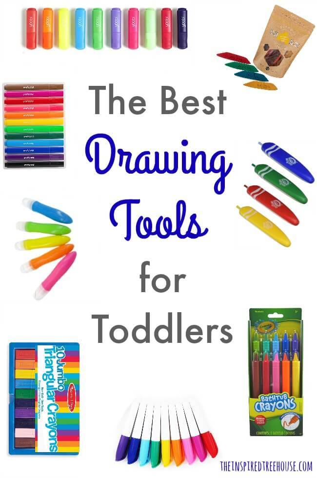 The Inspired Treehouse - These drawing tools are perfect for toddlers and young kids because they promote effective grasp patterns and give kids good control as they learn to make shapes and lines.