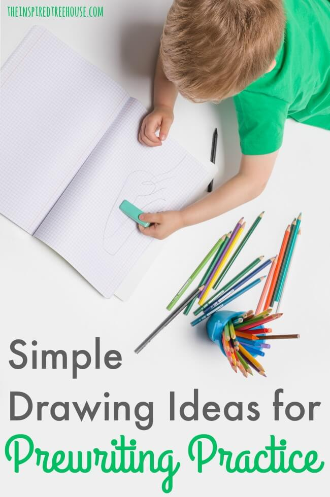 "The Inspired Treehouse - Learn some of our best simple drawing ideas ideas that are perfect for ""tricking"" kids into practicing those prewriting shapes!"