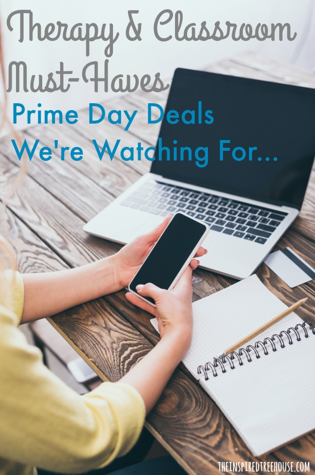 The Inspired Treehouse - Amazon Prime Day deals are coming up on July 15 and 16, 2019 and we can't wait!  There are so many products that we have on our therapy wishlists that we'll be watching on Prime Day to see if we can score a deal!