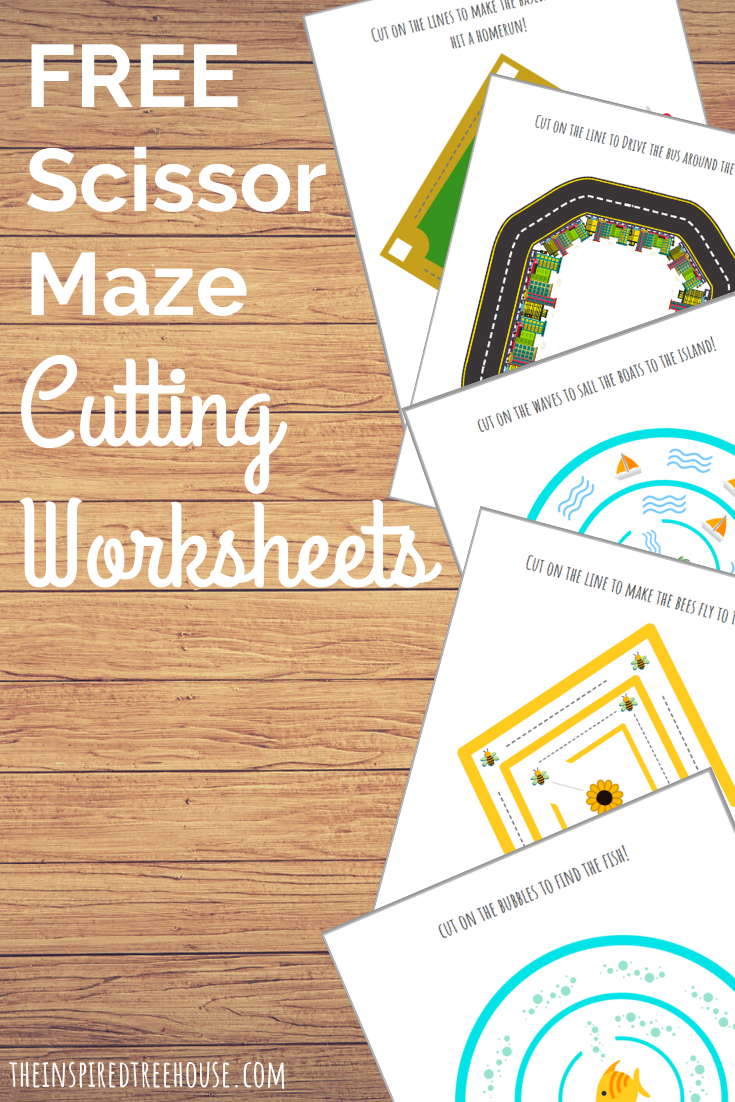 Printable cutting worksheets