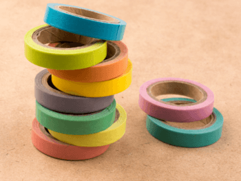 Colorful rolls of tape
