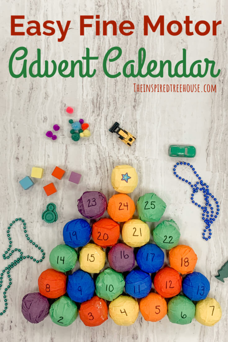 Colorful wrapped gifts for diy advent calendar