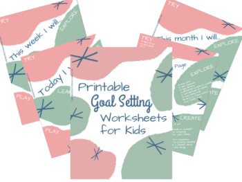 Printable Goal Setting Worksheet for Kids!