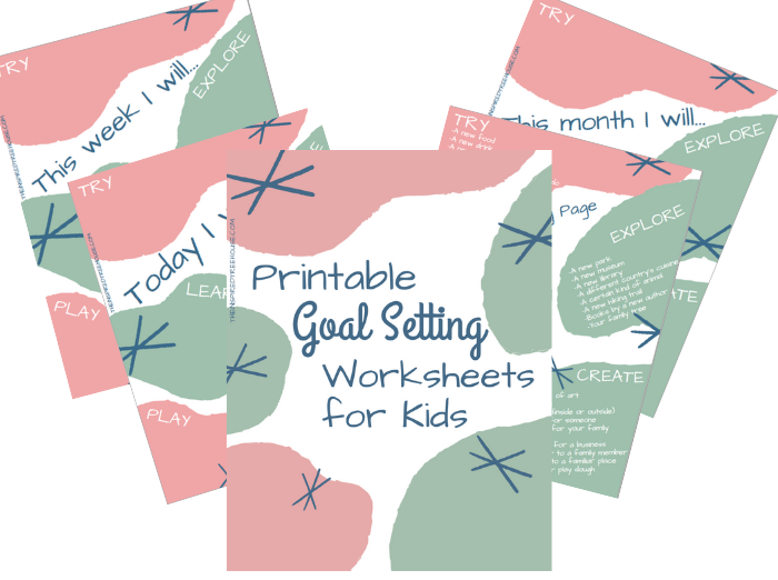 printable goal setting worksheets for kids