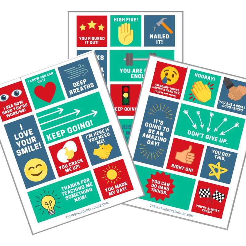positive affirmations for kids printables