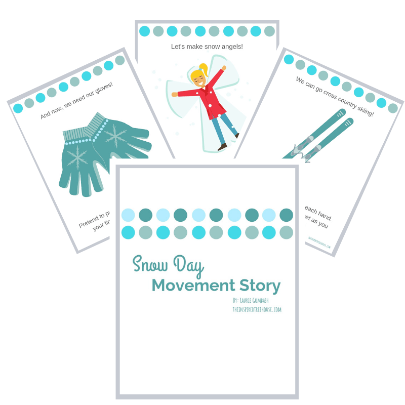 snowy day printable movement story