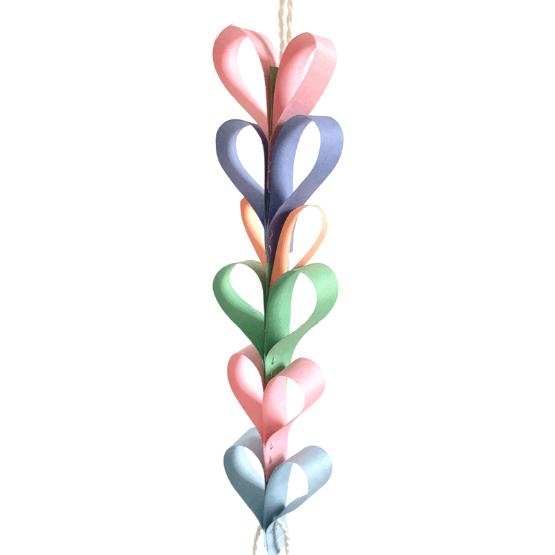 photo of valentine craft made out of paper