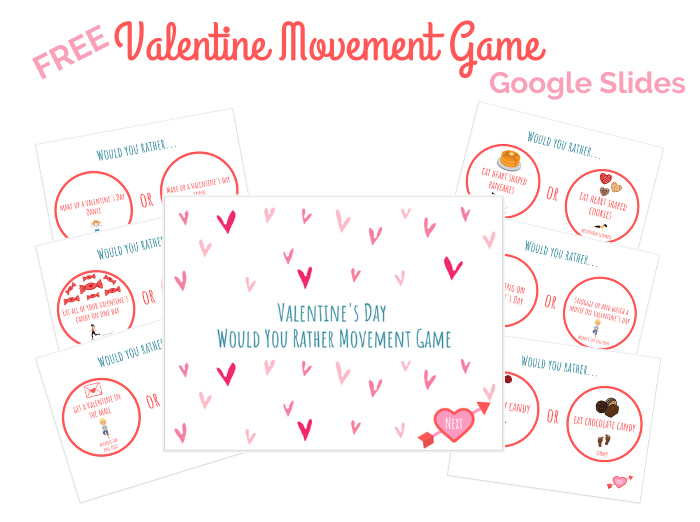 image of free google slides for valentines day movement game